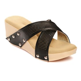 Bruno Manetti Black Wedges
