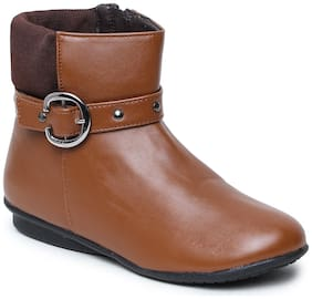 Bruno Manetti Women Tan Ankle length Boots
