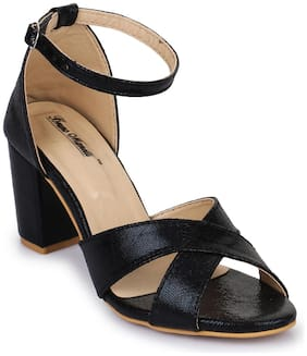 Bruno Manetti Women Black Sandals