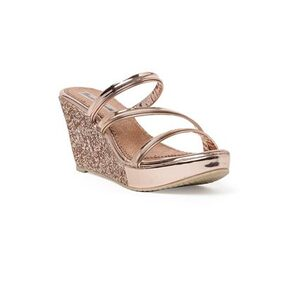 Bruno Manetti Women Glitter Sultan Patent Leather Wedges