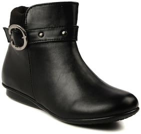 Bruno Manetti Black Ankle Boots