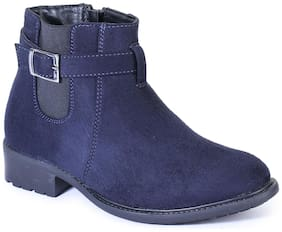 Bruno Manetti Women Navy Blue Ankle length Boots