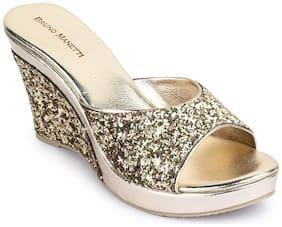 Bruno Manetti Women Gold Heeled Sandals