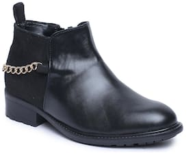 Bruno Manetti Women Black Faux Leather Boots