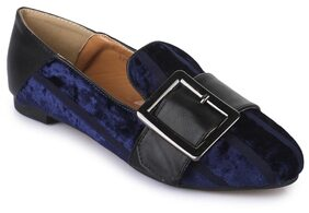 Bruno Manetti Navy Blue Loafers
