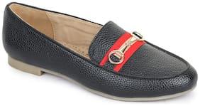 Bruno Manetti Women Black Loafers