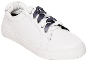 Bruno Manetti Women White Casual Shoes