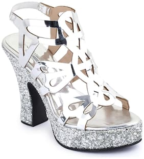 Bruno Manetti Women Silver Sandals