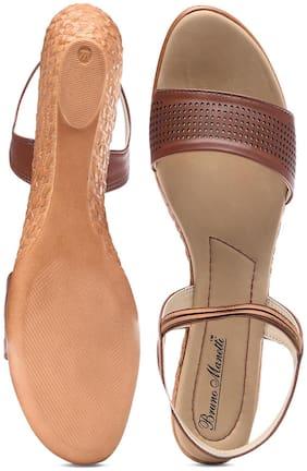 Bruno Manetti Women Gold Sandals