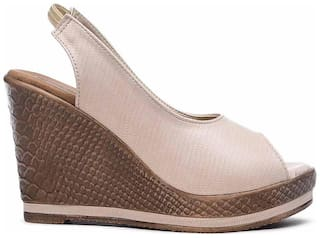 Bruno Manetti Wedges For Women ( Gold )