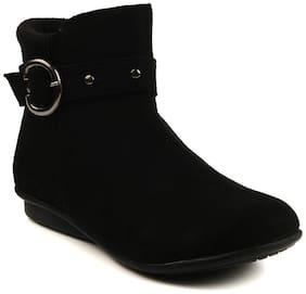 Women Ankle Length Boots ( Purple )