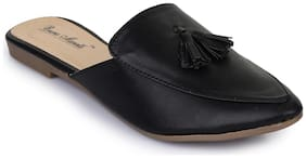 Bruno ManettiWomen Black Synthetic Leather Loafers