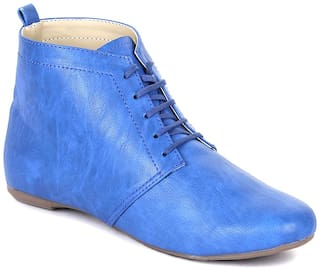 Bruno Manetti Women Blue Boot