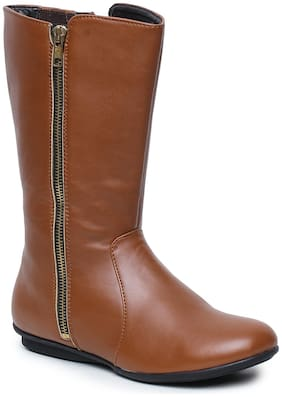 Bruno Manetti Women Tan Knee length Boots