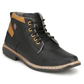 BUCIK Men Black Outdoor Boots