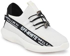 BUCIK Men White Casual Shoes - BCK1030-WHITE