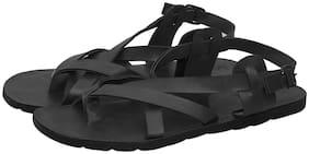 Butchi Men Black Sandals