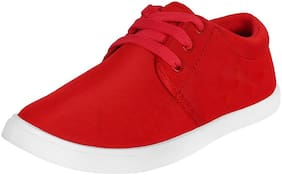 CAMFOOT Women Red Sneakers