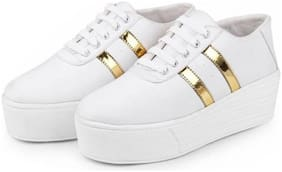 CAMFOOT Women White Sneakers