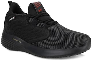 Campus Men ACTIVE Running Shoes ( Black )