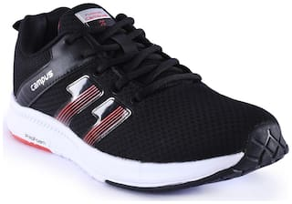 Campus Men Black Running Shoes CG-109