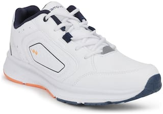 Campus TROPHY Running Shoes For Men(White;Navy Blue )