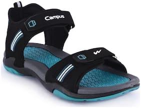 Campus Men Black Sandals