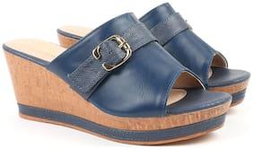 Carlton London Women Blue Sandals