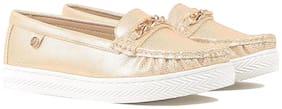 Carlton London Women Golden Loafers - Uk 5
