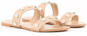 Carlton London Women Beige Sandals