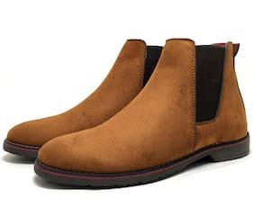 Castoes Men Tan Chelsea Boots - 502TNN