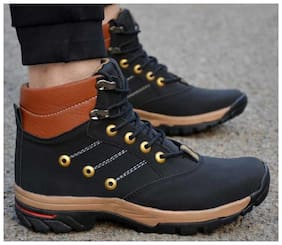 Castoes Men Black Outdoor Boots
