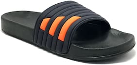 Castoes Men Black Sliders - 1 Pair