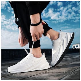 Castoes Men Running Shoes Running Shoes ( White )