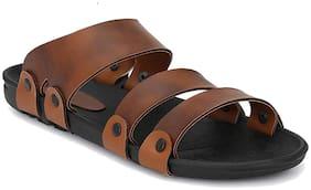 SIM STYLE Men Brown Sandals