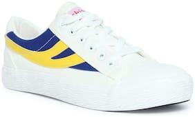 Enso Men White & Blue Casual Shoes