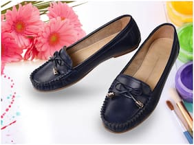 Catbird Women Blue Loafers