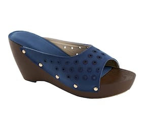 CatBird Women Faux leather Slip on Wedges - Eu 41 , Blue