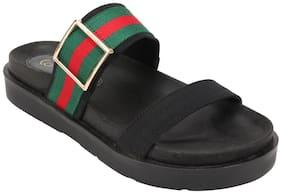 Catwalk Black Slippers