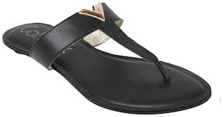 Catwalk Black Slippers & Flip flops