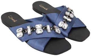 Catwalk Women Blue Open Toe Flats
