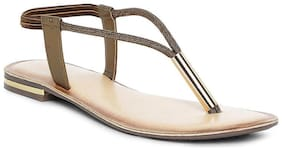Catwalk Women Bronze Sandals
