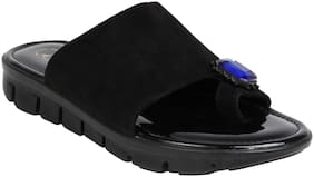 Catwalk Women Black Flipflops