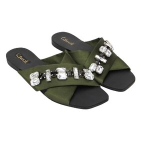 Catwalk Green Slippers & Flip flops