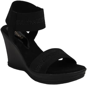 Catwalk Women Black Wedges