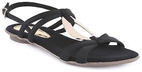 Catwalk Women Black Sandals
