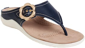 Catwalk Women Blue T-Strap Flats