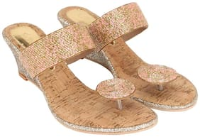 Catwalk Golden Wedges