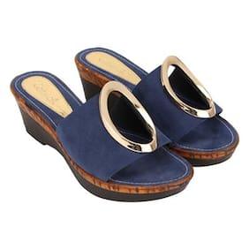 Catwalk Blue Wedges