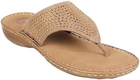 Catwalk Women Khaki Open Toe Flats